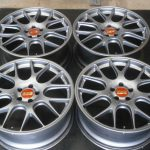 【BBS CH-R】20インチ 8.5J+40 5穴 PCD112  アウディ A4 S4 A6  VW パサート シロッコ ハブリング付 Φ66 中古 4本セット