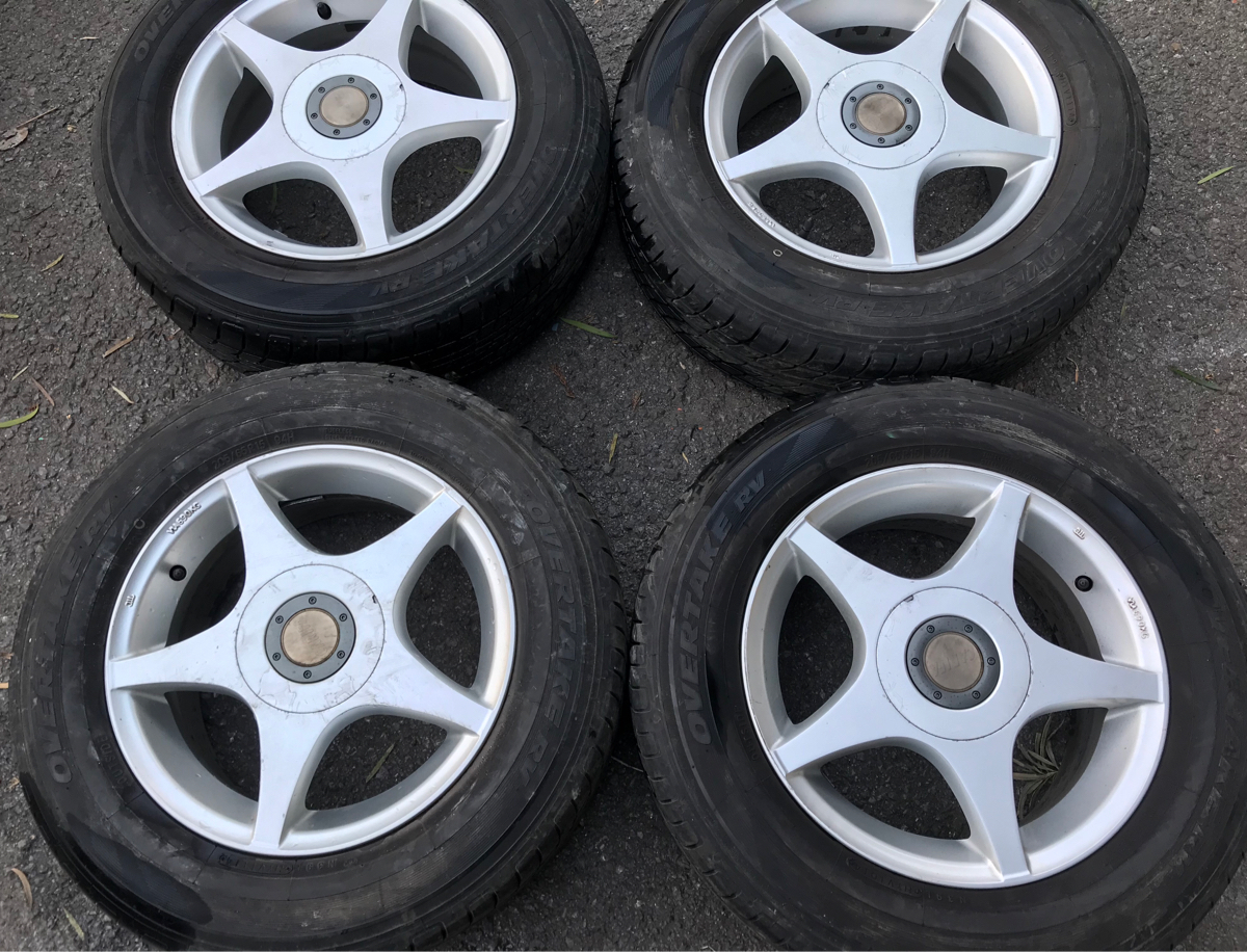 205/65R15 94H OVER TAKE RV 2014年製 15×6.5J OF 45 114.5 100 4本セット